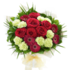 Heavenly Red Rose Hand tied 01