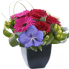 Rose, Gerbera and Vanda Orchid Arrangement 01