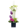 Rose, Gerbera and Vanda Orchid Arrangement 04
